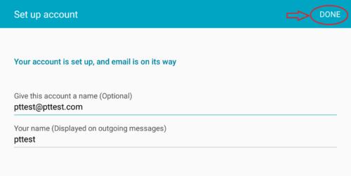 تنظیمات ایمیل در اندروید