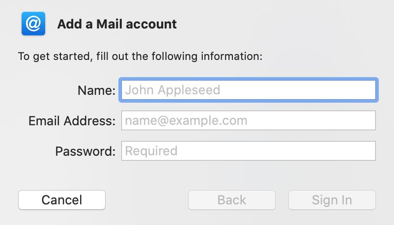 تنظیمات ایمیل در اپل